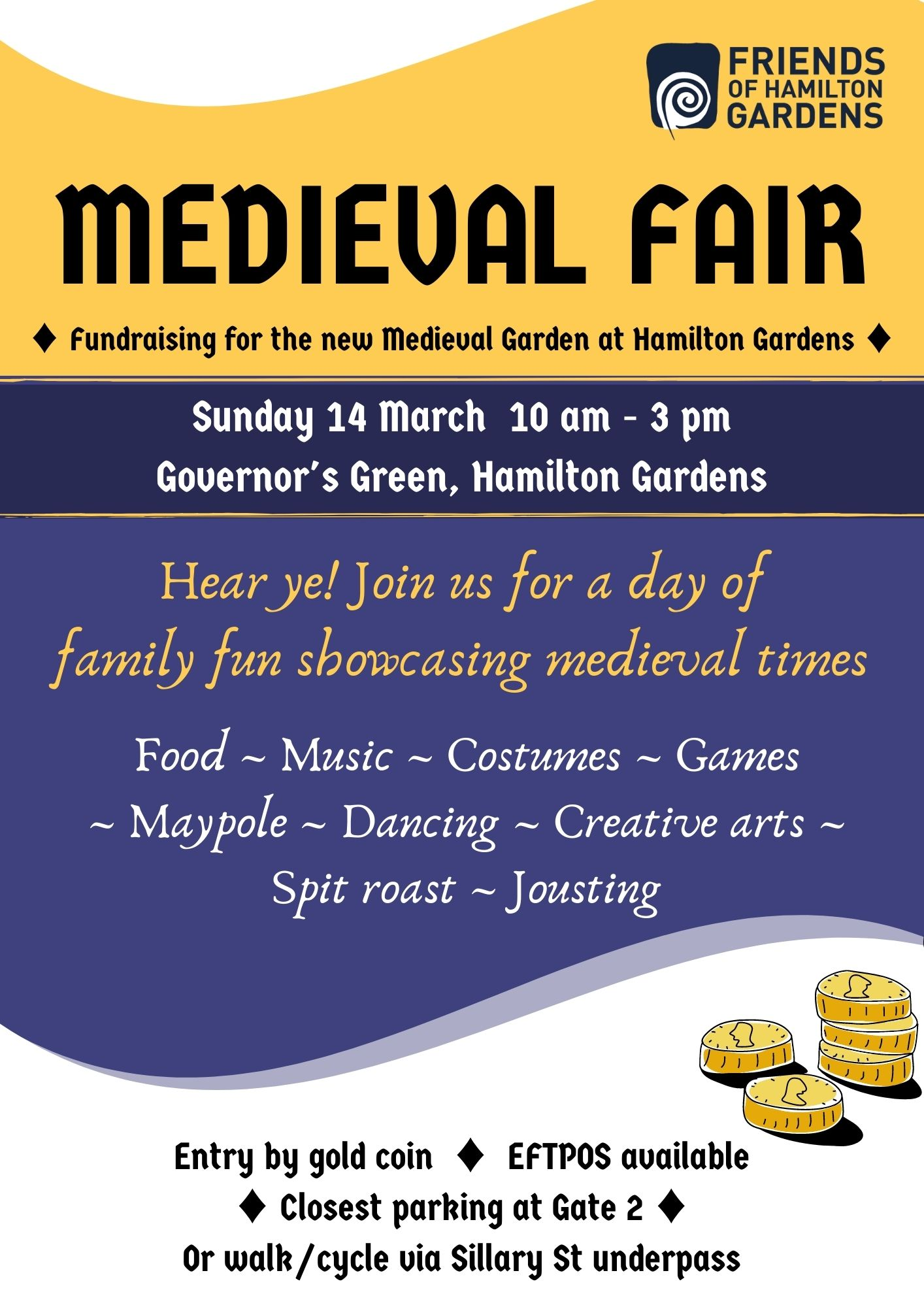 Poster advertising Medieval Fair 2021