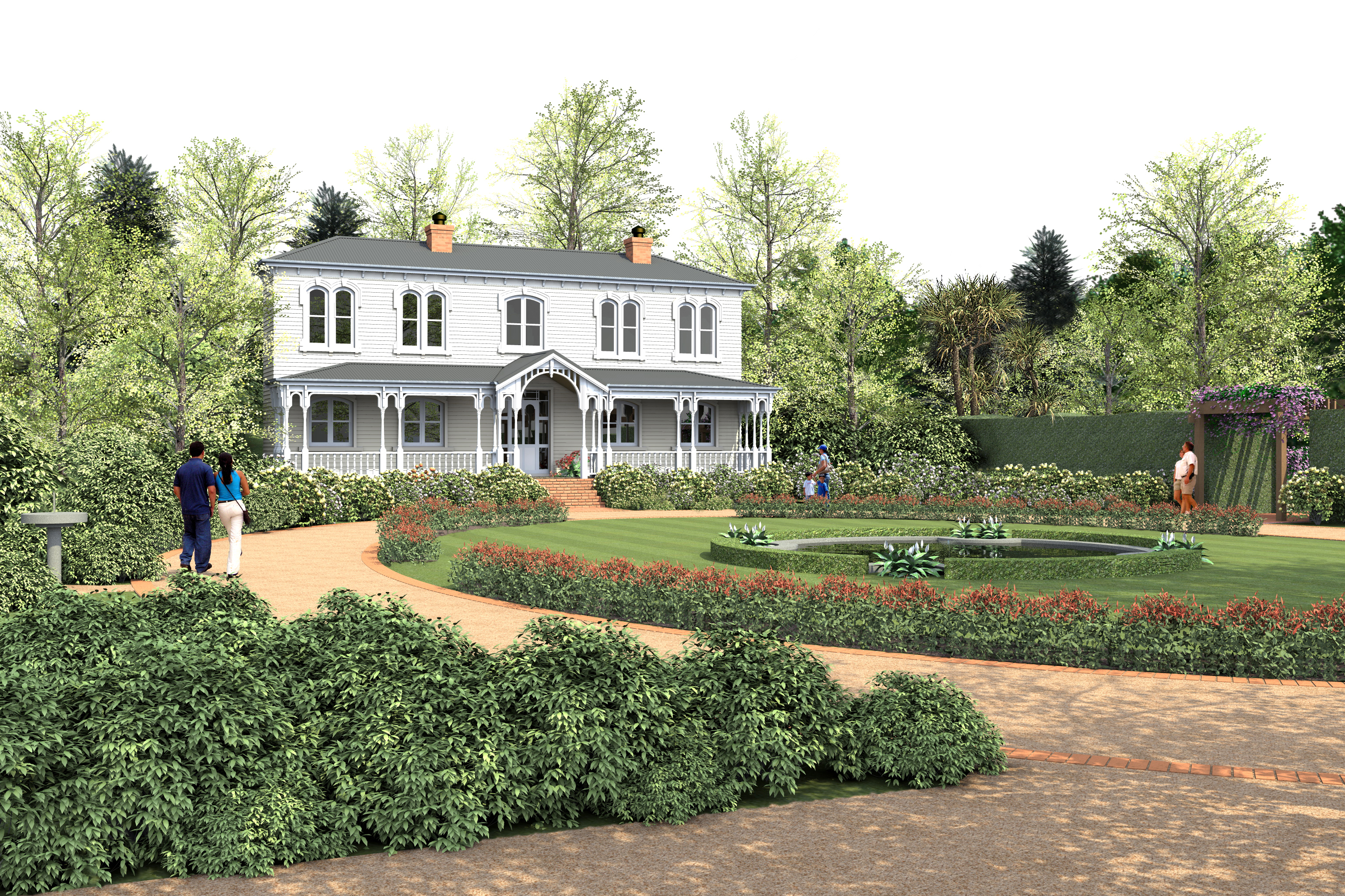 Hamilton gardens proposed fantasy collection gardens for The country home collection