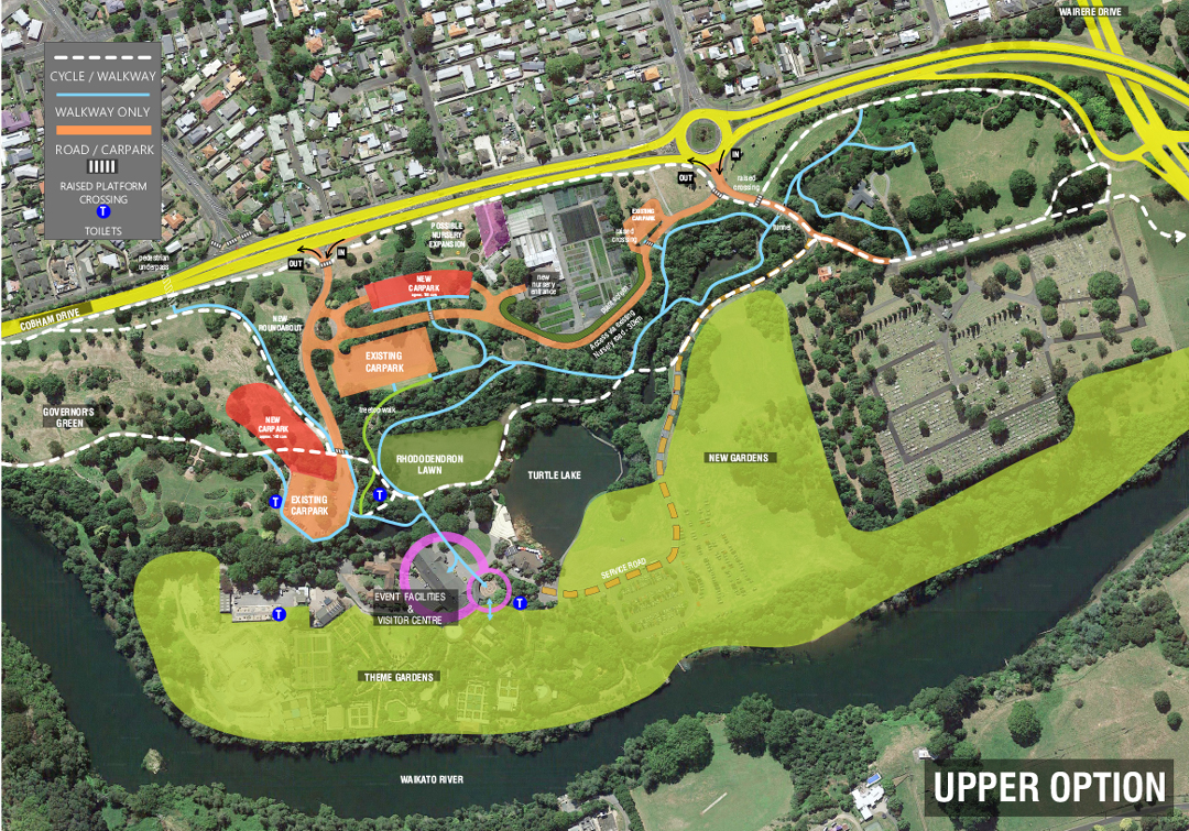 Proposed Upper Option - Hamilton Gardens
